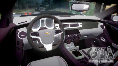 Chevrolet Camaro ZL1 2012 Redline pour GTA 4 est une vue de l'intérieur
