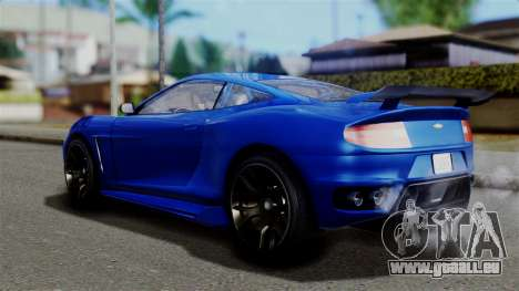 GTA 5 Dewbauchee Massacro Racecar für GTA San Andreas linke Ansicht