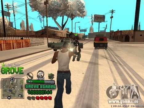 C-HUD Grove Street pour GTA San Andreas neuvième écran