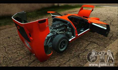 Ford GT40 MKI 1965 pour GTA San Andreas vue intérieure