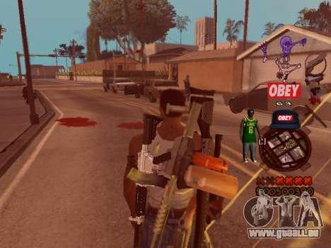 C-HUD Sweet pour GTA San Andreas troisième écran