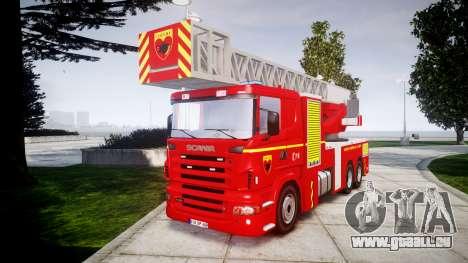 Scania R580 Paris Fireladder [ELS] für GTA 4
