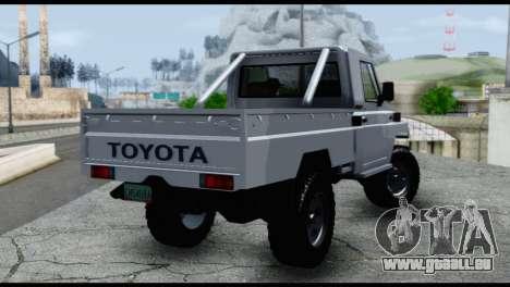 Toyota Land Cruiser Macho Pick-Up 2007 4.500 für GTA San Andreas linke Ansicht