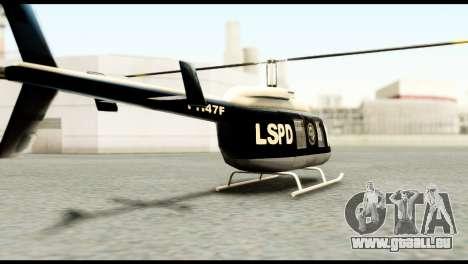 Beta Police Maverick pour GTA San Andreas laissé vue