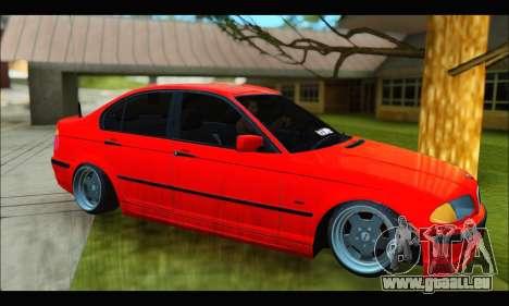 BMW e46 Sedan V2 pour GTA San Andreas sur la vue arrière gauche