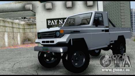 Toyota Land Cruiser Macho Pick-Up 2007 4.500 pour GTA San Andreas