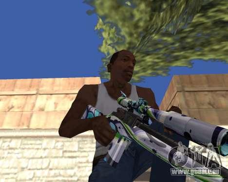 Graffity weapons pour GTA San Andreas quatrième écran