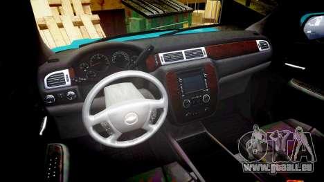 Chevrolet Tahoe 2013 Game Warden [ELS] pour GTA 4 Vue arrière