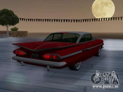 Chevrolet Impala 1959 pour GTA San Andreas vue de dessus