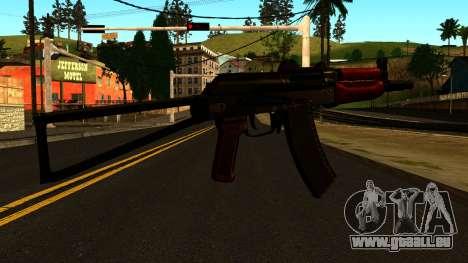 Sombre AKS-74U v1 pour GTA San Andreas deuxième écran
