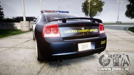 Dodge Charger SRT8 2010 Sheriff [ELS] pour GTA 4 Vue arrière de la gauche