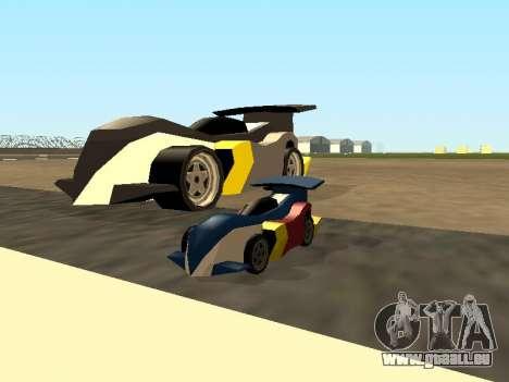 RC Bandit (Automotive) pour GTA San Andreas vue de dessus