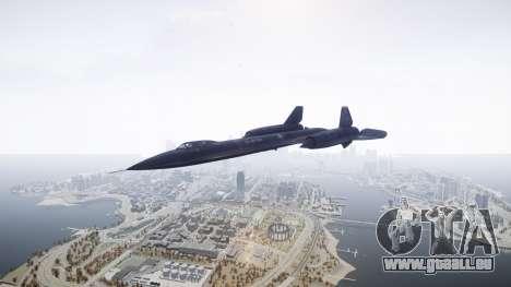 Lockheed SR-71 Blackbird für GTA 4 rechte Ansicht