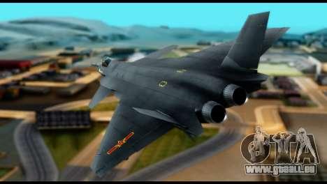 Chenyang J-20 BF4 pour GTA San Andreas laissé vue