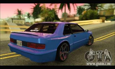 Bravura AWD Turbo pour GTA San Andreas sur la vue arrière gauche