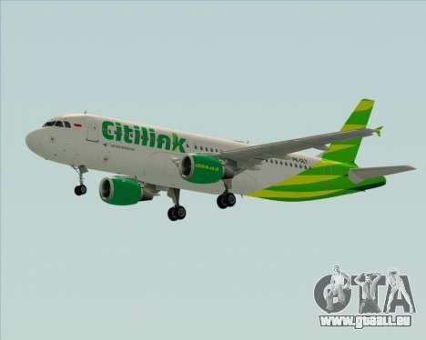 Airbus A320-200 Citilink pour GTA San Andreas vue intérieure