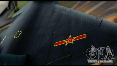 Chenyang J-20 BF4 pour GTA San Andreas vue intérieure
