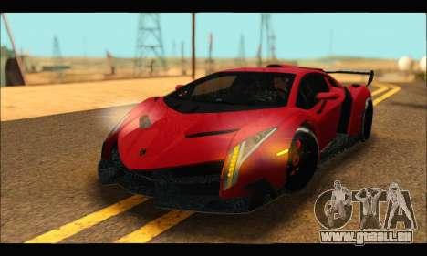 Lamborghini Veneno 2013 HQ pour GTA San Andreas vue arrière
