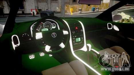 Pontiac GTO 2006 18in wheels pour GTA 4 est une vue de l'intérieur