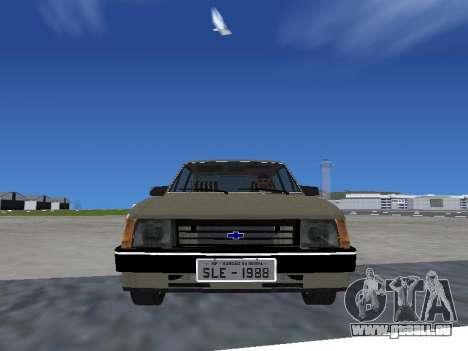 Chevrolet Chevette Hatch pour GTA San Andreas sur la vue arrière gauche