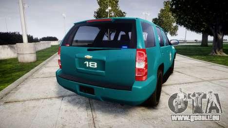 Chevrolet Tahoe 2013 Game Warden [ELS] pour GTA 4 Vue arrière de la gauche