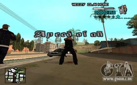 C-HUD Weezy pour GTA San Andreas troisième écran