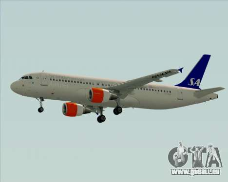 Airbus A320-200 Scandinavian Airlines - SAS für GTA San Andreas Rückansicht