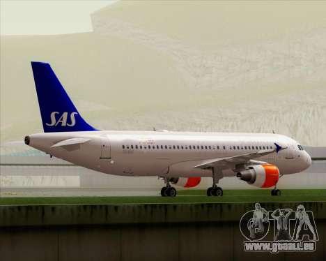 Airbus A320-200 Scandinavian Airlines - SAS für GTA San Andreas obere Ansicht