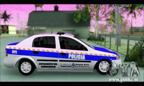Chevrolet Astra Policia Vial Bonaerense pour GTA San Andreas laissé vue