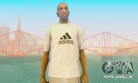 Adidas Shirt White pour GTA San Andreas troisième écran