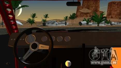 Dodge Charger Daytona pour GTA San Andreas sur la vue arrière gauche