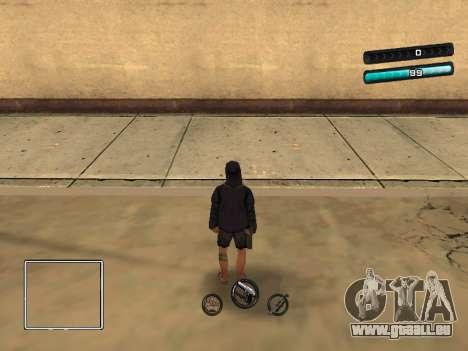 C-HUD Azure für GTA San Andreas zweiten Screenshot