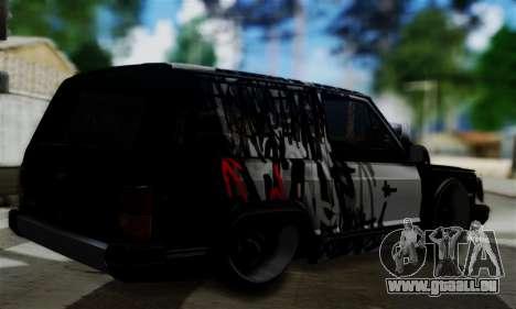 Jeep Mini-Truck pour GTA San Andreas laissé vue