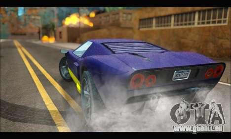 Vapid Bullet Gt (GTA IV) (LC Plate) pour GTA San Andreas sur la vue arrière gauche