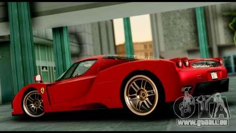 Ferrari Enzo 2002 pour GTA San Andreas vue intérieure