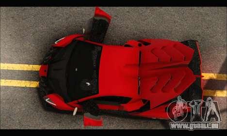 Lamborghini Veneno 2013 HQ pour GTA San Andreas vue de dessus