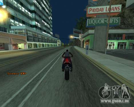 Car Speed pour GTA San Andreas
