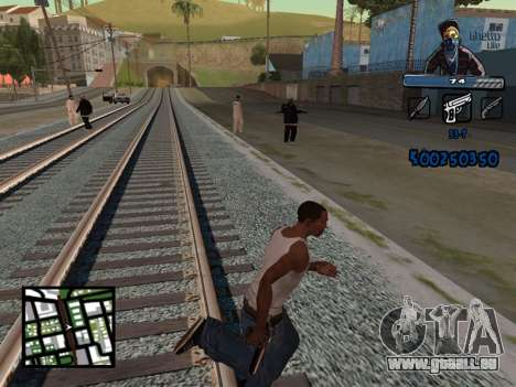 C-HUD Unique Ghetto für GTA San Andreas dritten Screenshot