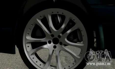 Mercedes-Benz W124 BRABUS V12 pour GTA San Andreas vue arrière