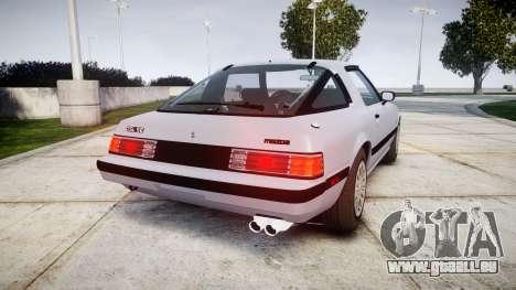 Mazda RX-7 1985 FB3s [EPM] pour GTA 4 Vue arrière de la gauche