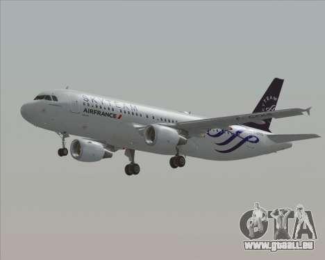 Airbus A320-200 Air France Skyteam Livery pour GTA San Andreas vue de côté