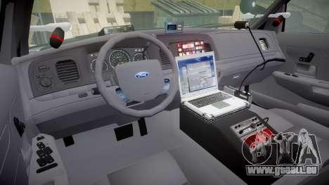 Ford Crown Victoria Highway Patrol [ELS] Vision pour GTA 4 Vue arrière