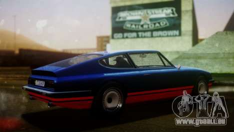 GTA 5 Lampadati Pigalle pour GTA San Andreas sur la vue arrière gauche