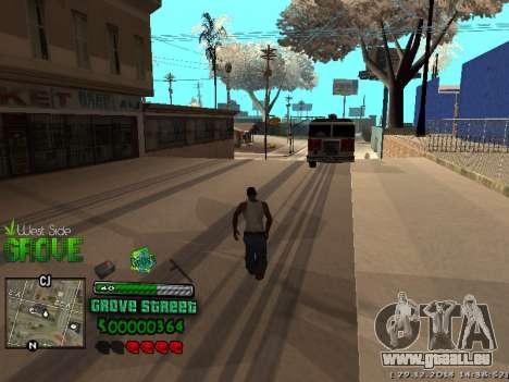 C-HUD Grove Street pour GTA San Andreas septième écran