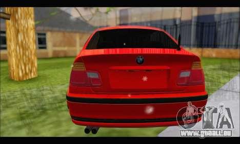 BMW e46 Sedan V2 pour GTA San Andreas vue arrière
