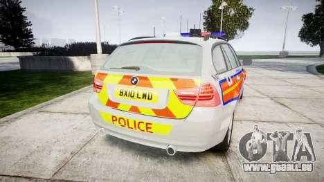 BMW 325d E91 2010 Metropolitan Police [ELS] für GTA 4 hinten links Ansicht