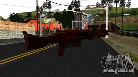 Christmas Minigun für GTA San Andreas zweiten Screenshot