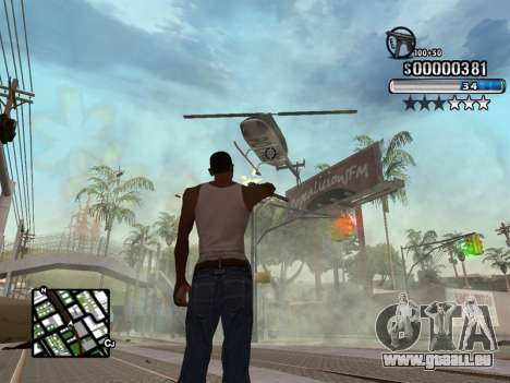 C-HUD New Style pour GTA San Andreas troisième écran