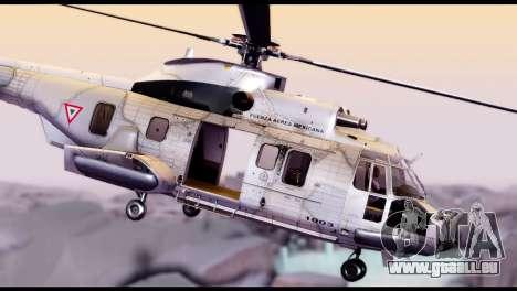 EC-725 Super Cougar pour GTA San Andreas sur la vue arrière gauche