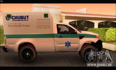 Ford Ranger 2013 Ambulancia Chubut pour GTA San Andreas laissé vue
